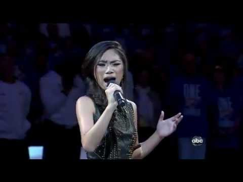 Jessica Sanchez sings National Anthem - 2012 NBA Finals - Heat vs Thunder