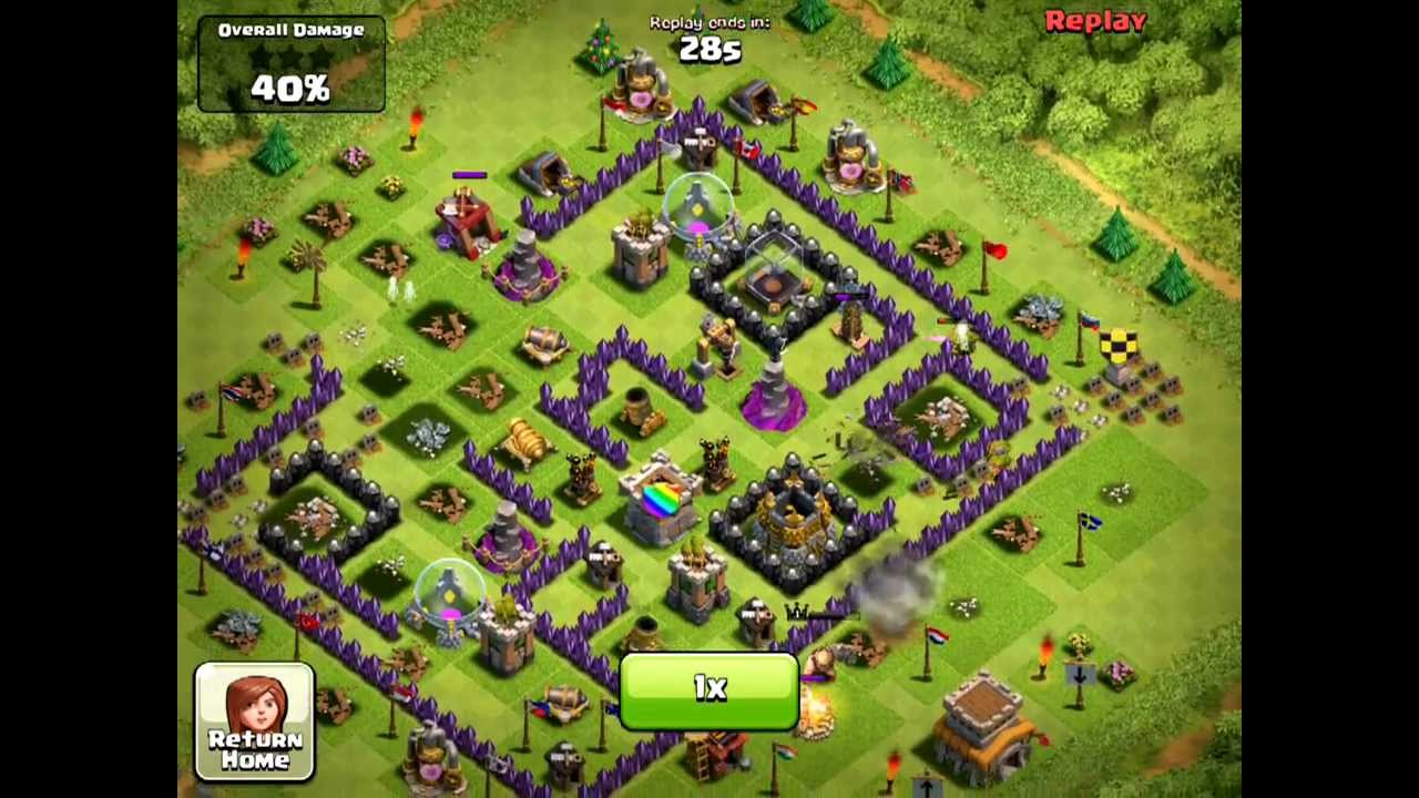 Clash of clans th8 trophy base