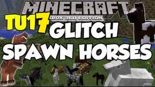 Minecraft [XBOX360] TU17 GLITCH Spawn Horses
