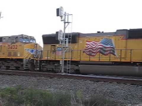 UP 3906 is it Fright Train To Slow Where She KCS at Houston,TX