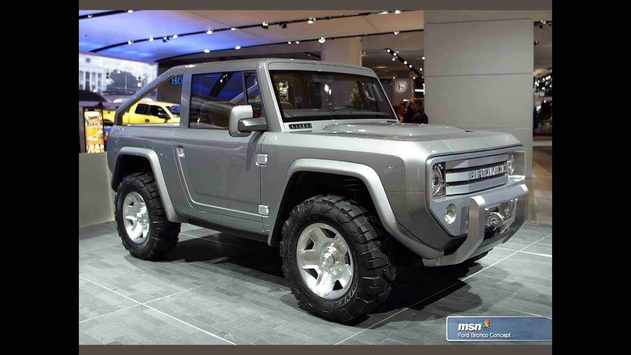 2014 Ford Bronco Suv 2015 Ford Bronco Concept Youtube