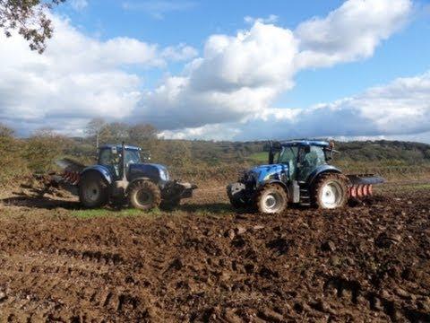 labour et semis avec 3 tracteurs !!!