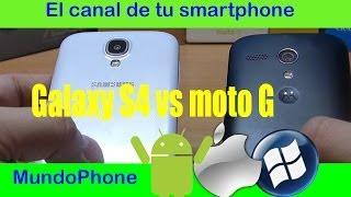 ANÁLISIS COMPARATIVA ENTRE MOTO G Y GALAXY S4 EN ESPAÑOL