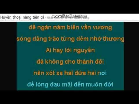 Karaoke Huyền thoại nàng tiên cá ( mời nam feat)