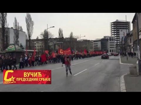 Митинг у Новом Саду - Вучић председник Србије!
