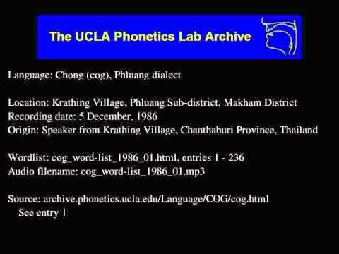 Chong audio: cog_word-list_1986_01