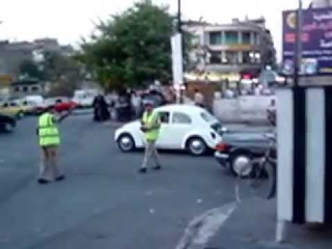 Traffic in Damascus, Syria