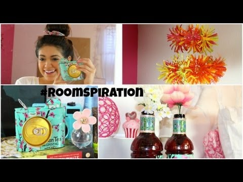 DIY Room Decorations using water bottles & soda cans
