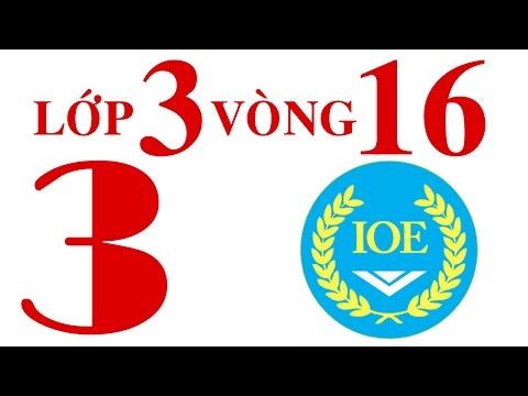IOE Olympic Tiếng Anh lớp 3 vòng 16 năm 2014-2015