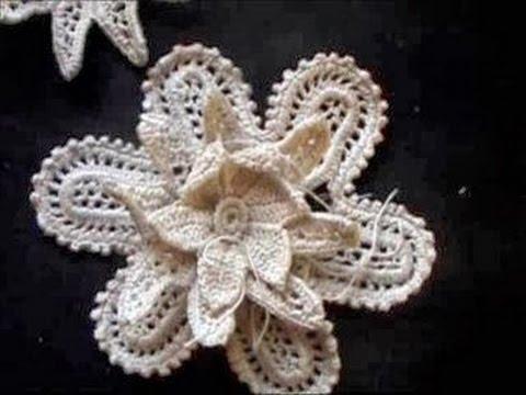 Irish Crochet Lace large flower part2