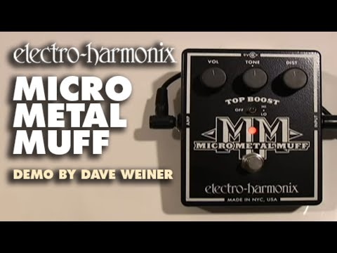 Electro Harmonix Micro Metal Muff Distortion w/ Top Boost Effects Pedal for Guitar