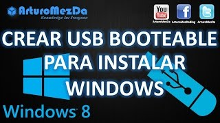 ¿Como Crear Una Memoria USB Booteable Con Windows 8