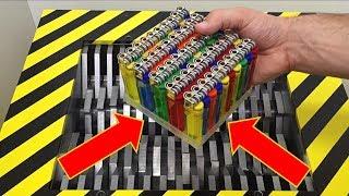 EXPERIMENT Shredding 50 Lighters