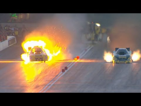 Bob Bode Engine Explodes @ 2014 NHRA Chicago