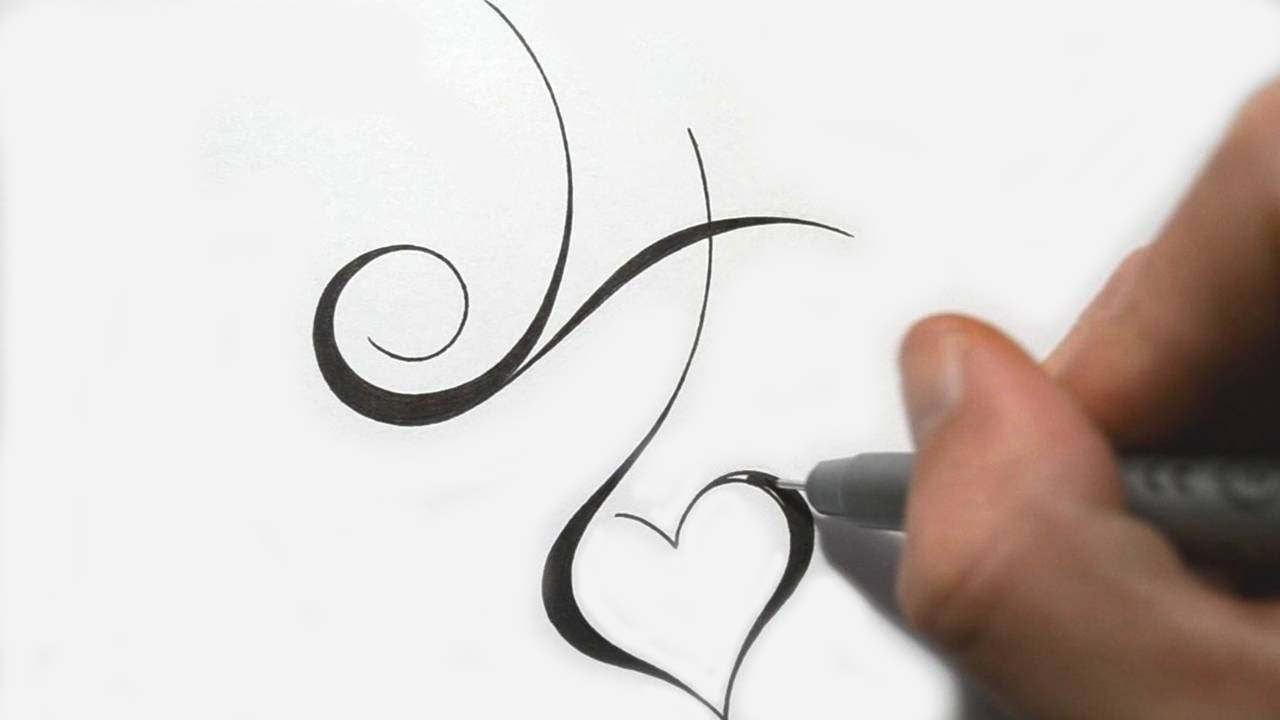 Designing Simple Initial H Tattoo Design Calligraphy Style: calligraphy youtube