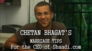 Chetan Bhagat's Marriage Tips for Anupam Mittal, the CEO of Shaadi.com