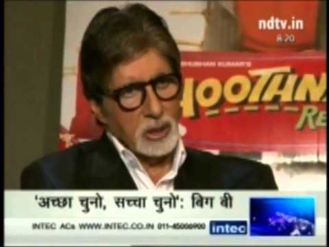 Amitabh Bachchan's Interview on NDTV about Elephant Sunder and PETA