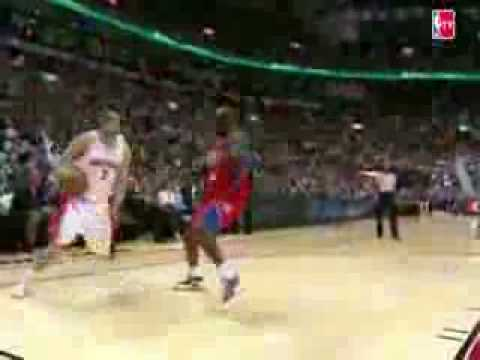 Andrea Bargnani Shakes Reggie Evans and Finishes With a Reverse Dunk (NBA)