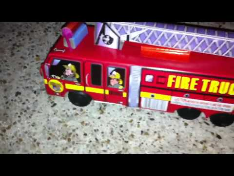 Fire truck Rolling Firework Demonstration