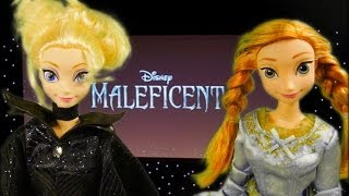 Frozen Elsa And Anna Watch Maleficent Movie With Princess