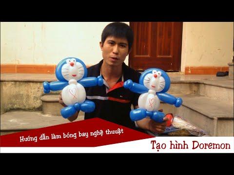 Bóng bay nghệ thuật - Tạo hình Doremon | Make Doremon from balloons