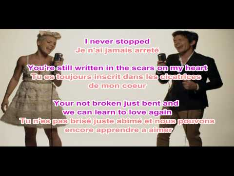Pink - Just Give Me a Reason LYRICS + traduction francaise