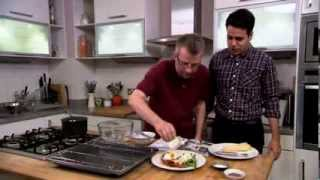 Battle of the pans: cooking contestants Mark Charan Newton and Dave Bradley