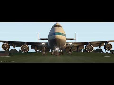 Funny Flight Sim MINI CHALLENGE #1 - Land a Boeing 747 at Compton Abbas in time for lunch!