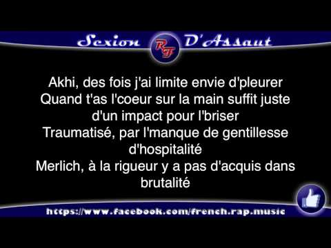 Sexion d'Assaut - à coeur ouvert (Paroles) HD 2012 (Lyrics)