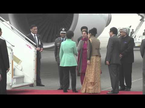 President Park Geun hye arrived in India