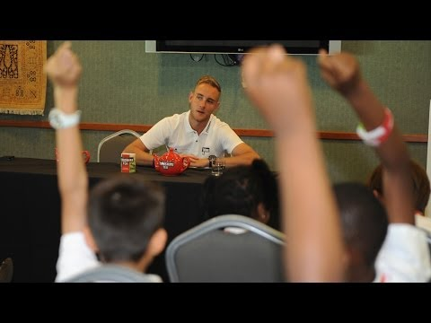 Stuart Broad gets grilled by school kids at press conference