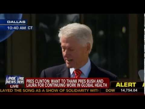 Bill Clinton Speaks at Dedication of George W. Bush Presidential Center