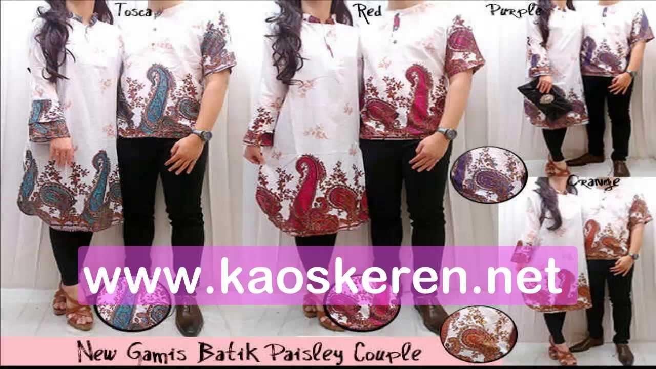 Baju Muslim Gamis Batik Couple Murah Baju Muslim Terbaru