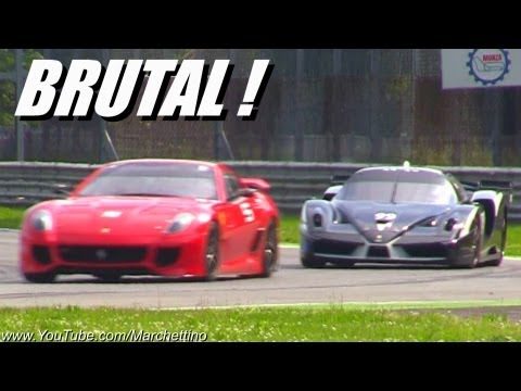 Ferrari 599XX EVO vs FXX EXTREME Sound!!