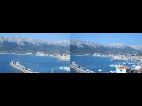 Beaches and restaurants: Panorama Baska island Krk