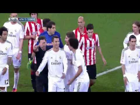 Real Madrid Cristiano Ronaldo Fight red card vs Athletic Bilbao