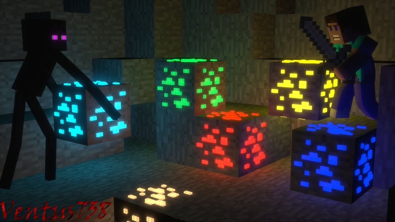 Minecraft Animation Glowing Discovery Youtube