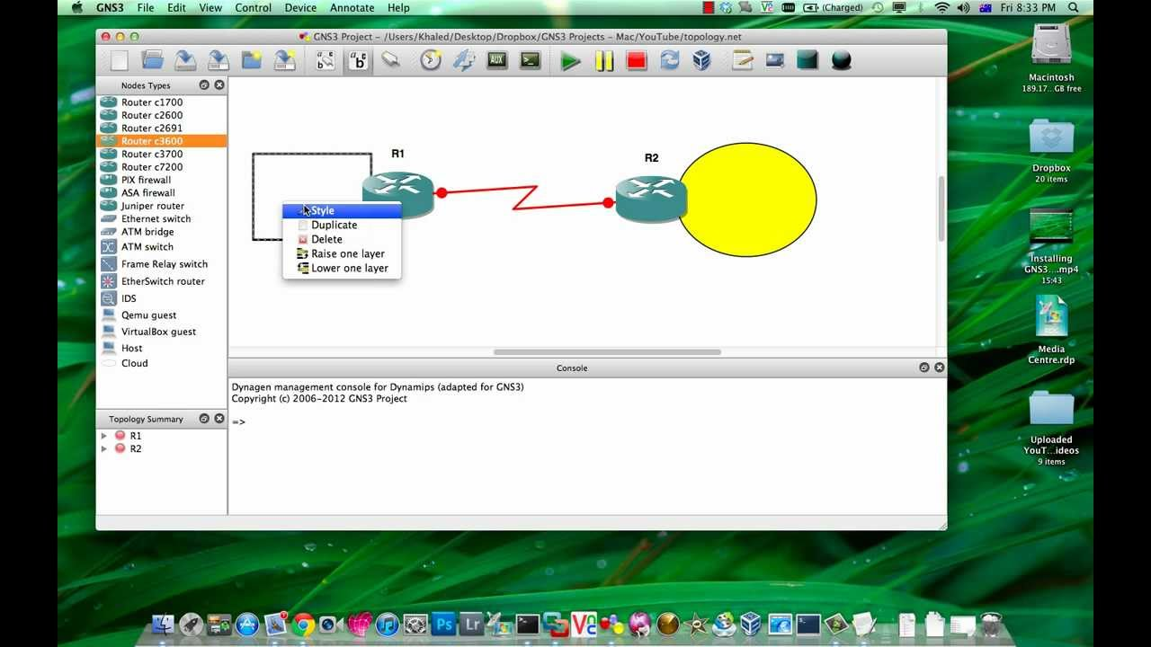 GNS3 Tutorial - Getting Started with GNS3 on Mac OS X ...