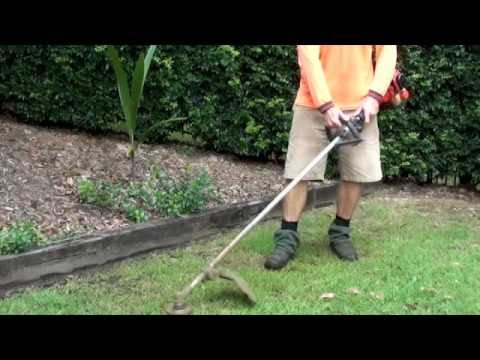 how to use a whipper snipper youtube