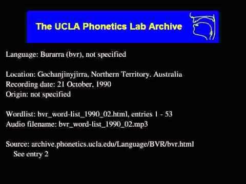 Burarra audio: bvr_word-list_1990_02