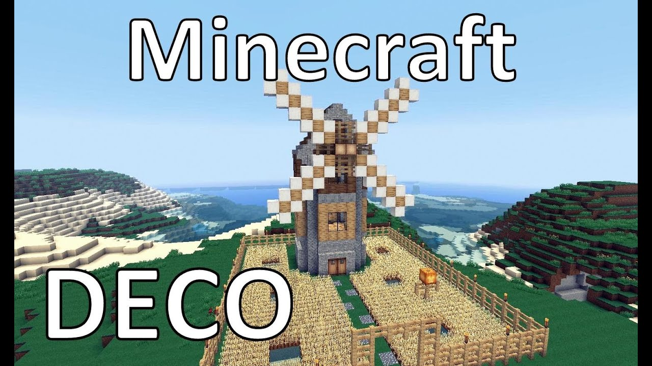 minecraft comment cr233er un moulin youtube