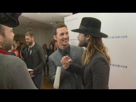 Dallas Buyers Club premiere: Matthew McConaughey and Jared Leto on weight loss and waxing