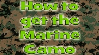 MW3 How To Get The Marine Camo On Xbox 360 And PS3. New