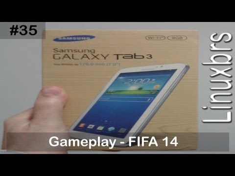 Gameplay Android - Fifa 14 - Samsung galaxy Tab 3 T210 - PT-BR - Brasil