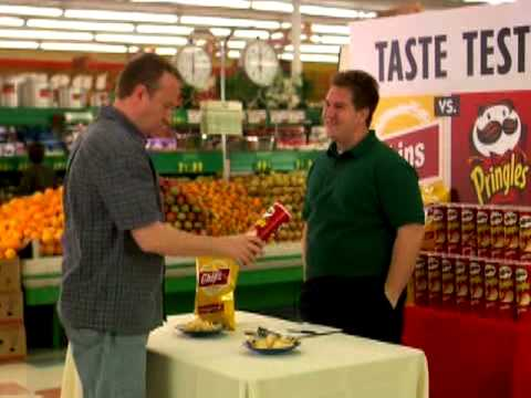 Pringles Commercial: &quot;Can&quot;, Why do people prefer Pringles? Perhaps it's the can.