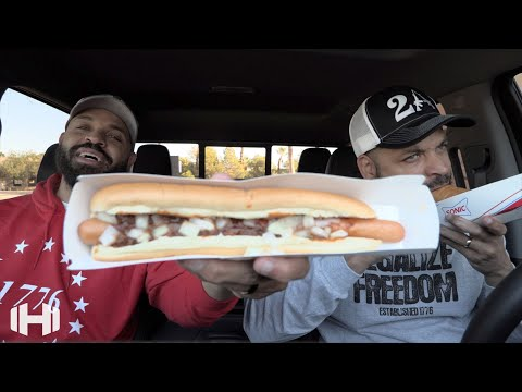 "Eating Sonic's ""Footlong Quarter Pound Coney"""