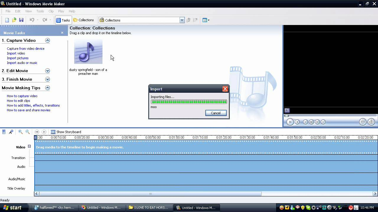 how to delete music in windows movie maker