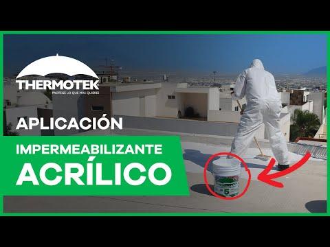 Aplicacion de impermeabilizante acrilico
