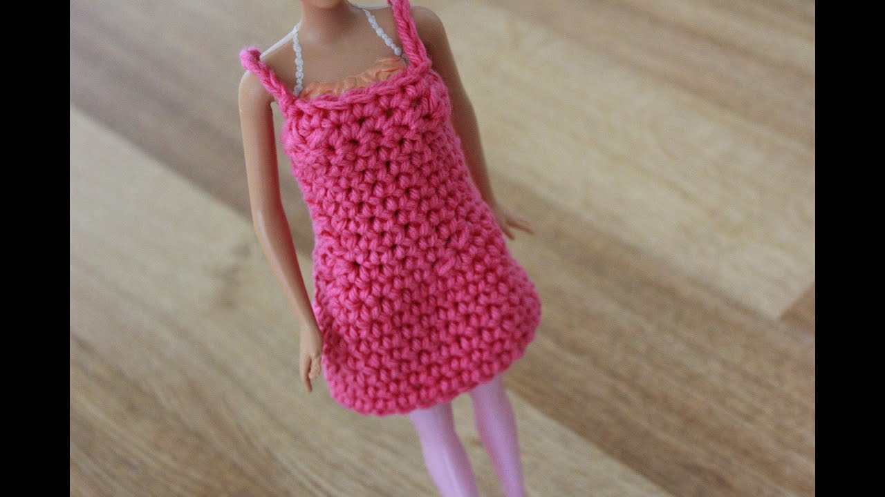 Beginner Left Handed Crochet Patterns : Crochet Barbie Dress Tutorial Pattern - Left Handed - YouTube