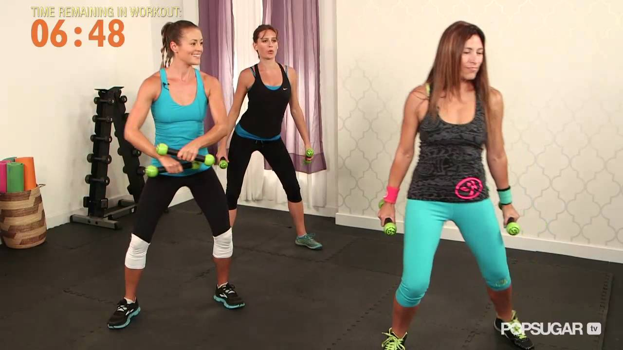 At home zumba workout get fit while gettin 39 down youtube for Living room zumba